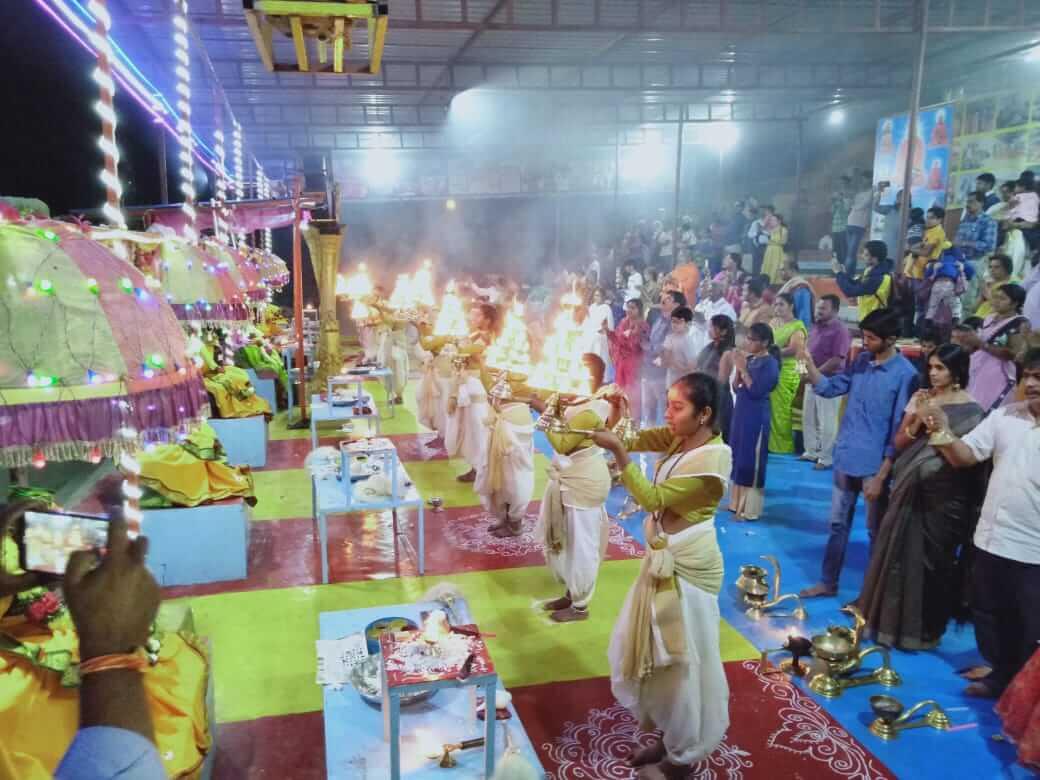 Godavari(Ganga) Aarti for Saraswathi Vasantha Panchami @ Basar with Veda Bharathi Peetham